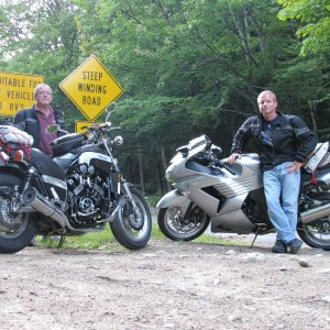 The infamous Hurricane Mountain Rd. NH : Magoo and Magoo Jr.