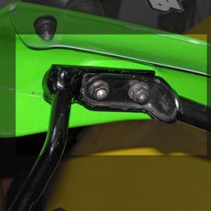 ZX-9R F model H-bar mirror bracket